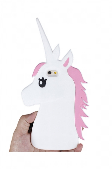 Yellow Dust Proof Soft Silicone Cartoon Cute Unicorn Case for iPhone