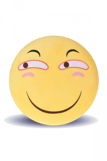 Emoji Smirk Expression Stuffed Plush Throw Pillow 12.6x12.6x5.2in