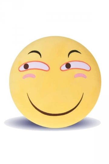 Emoji Smirk Face Warm Hands Soft Office Throw Pillow 12.6x12.6x5.2in