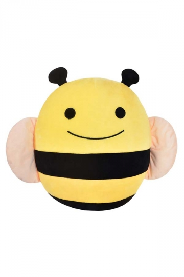 Cute Cushion Bed Decoration Soft Bee Throw Pillow 13.8x13.8x6in