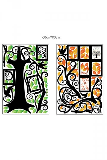 Waterproof Family Tree Wall Decal Large Photo Pictures Frames Black