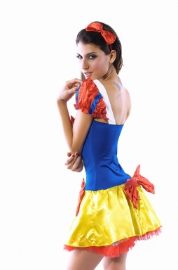 Cute Ladies Snow White Halloween Fairytale Costume
