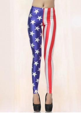 American Star Flag Print Leggings