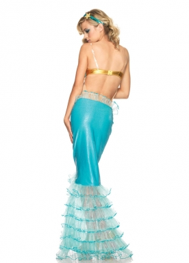 Womens Adult Sexy Mermaid Halloween Costume Sky Blue