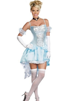 Blue Midnight Magic Princess Cinderella Fairytale Costume