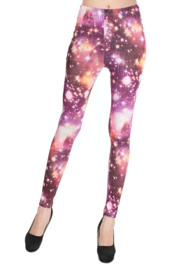 Sexy Womens printed Fitting Stretchy Galaxy Leggings