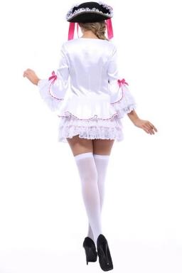 White Charming Ladies Halloween Pirate Costume