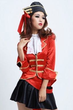 Red Fabulous Ladies Caribbean Pirate Halloween Costume
