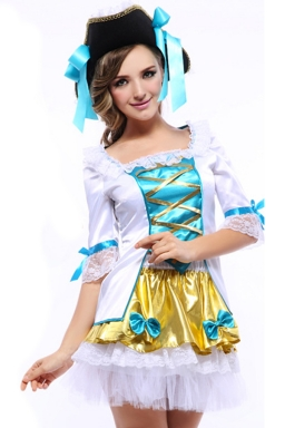 Green Sweet Girls Halloween Pirate Costume
