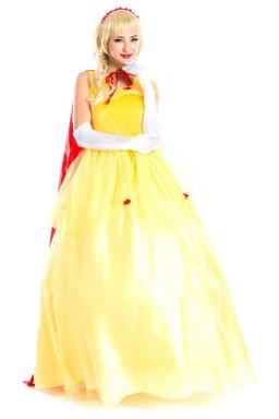Yellow Sexy Princess Halloween Fairytale Costume