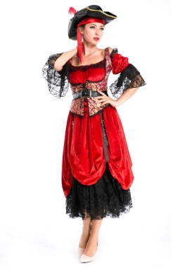 Sexy Women Adult Halloween Horsewoman Pirate Costume