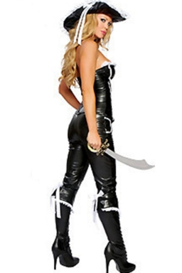 Black Stylish Ladies Halloween Pirate Costume