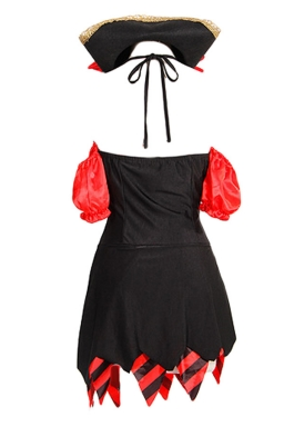 Black Cool Ladies Halloween Naughty Pirate Costume