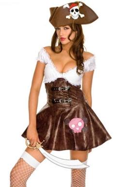 Khaki Sexy Ladies Halloween Popular Pirate Costume