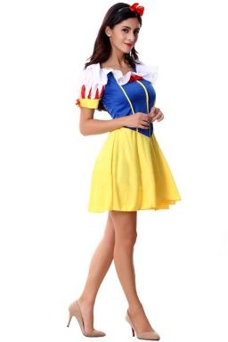 Blue Fancy Snow White Fairytale Halloween Classic Costume
