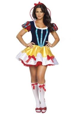 Blue Elegant Ladies Halloween Cosplay Snow White Fairytale Costume