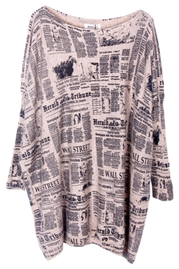 Beige Loose Womens Modest Paper Pattern Jumper Sweater