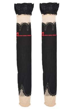 Black Trendy Ladies Lace Corespun Silk Long Stockings