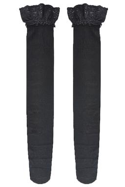 Black Fashion Ladies Lace Silicone Long Stockings