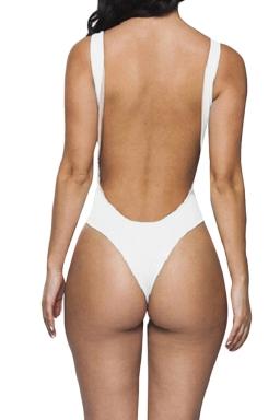 White Ladies Sexy See Through Mesh Monokini