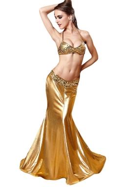 Gold Ladies Charming Mermaid Fairytale Costume