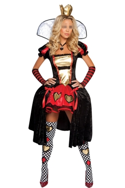 Black Queen of Hearts Cosplay Fairytale Costume