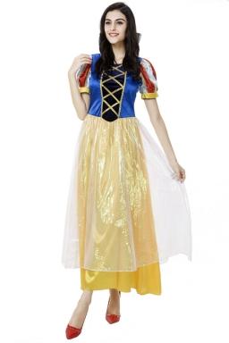Womens Snow White Cute Halloween Costume Blue
