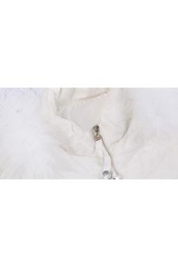 Womens Slimming Warm Tunic Peplum Down Jacket White