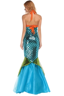 Womens Adult Sexy Halloween Mermaid Costume Blue