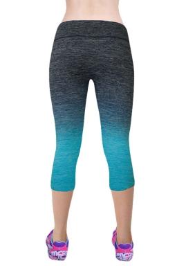 Womens Gradient Color Sports Leggings Blue