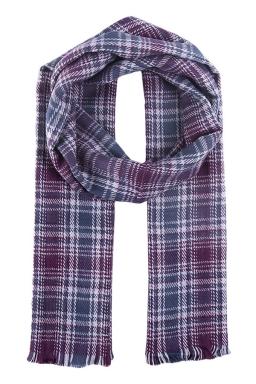 Womens Fashion Plaid Dual-Use Shawl and Scarf Purple