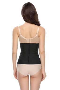 Womens Sexy Hollow Out Breathable Waist Training Corset Black