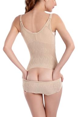 Womens Sexy Waist Training Butt Lifter One Piece Corset Khaki