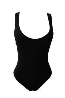 Womens Sexy Tank Sleeveless Bodycon Plain Bodysuit Black