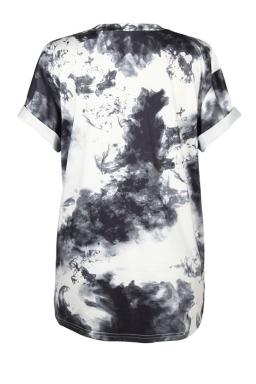 Womens Crew Neck Short Sleeve Cat Printed T-shirt White