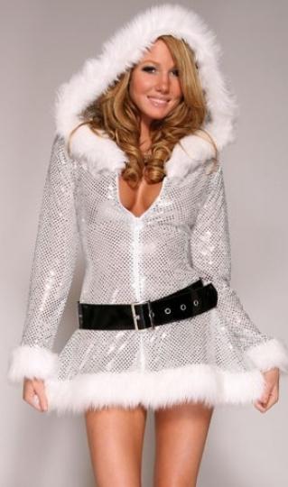 33 32 Silver Sequin Low Cut Womens Snowman Christmas