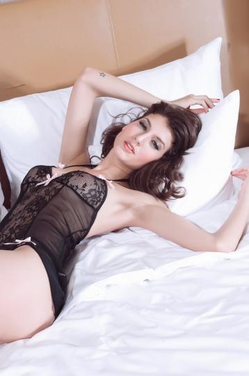 Black Tatiana Chemise Baby Doll Top Babydoll Underwear