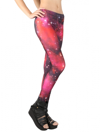 Extreme Red Galaxy Printed Leggings Galaxy Leggings For Sale
