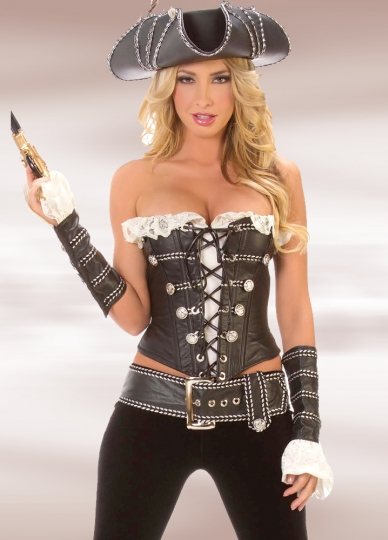 Sexy Pirate Lady Black Polyester Women S Halloween Costume