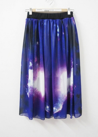 purple and comfortable galaxy maxi skirts maxi skirt