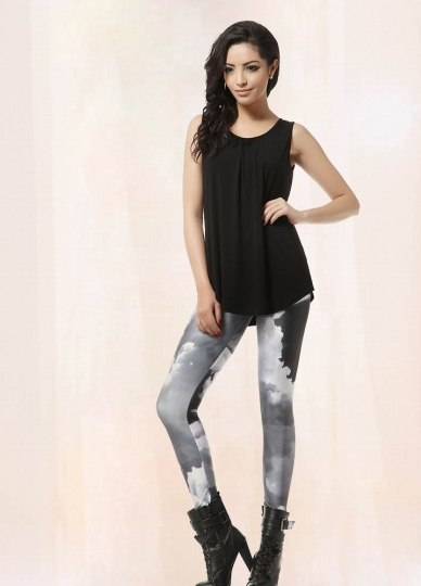 All-Match Black And White Space Womens Galaxy Leggings ...
