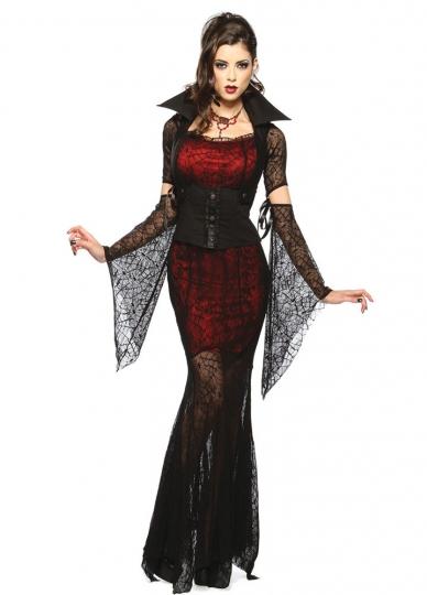 Womens cobweb mesh vampire halloween costume - Costume vampire femme ...