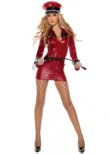 Sexy Red Army Girl Halloween Costume Cop Costume For Women