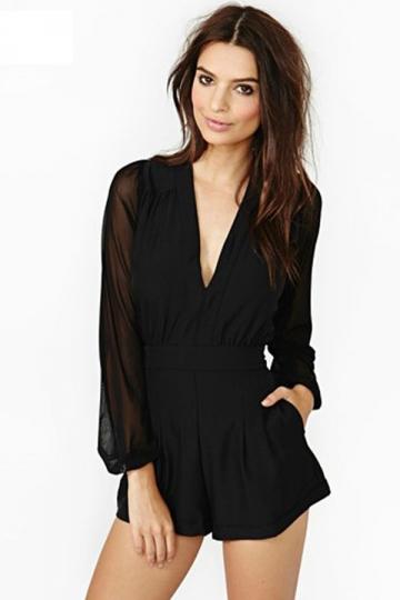 Plus size long sleeve mesh dress