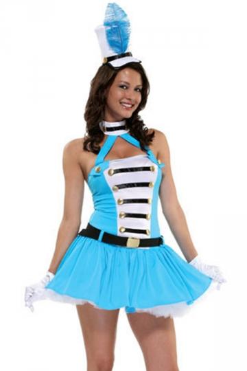 Honor Guard Cheerleader Sports Halloween Costume - PINK QUEEN