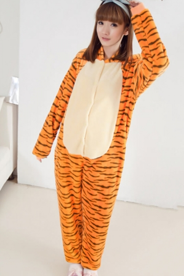 yellow naughty girls pajamas jumping tiger halloween jumpsuit costume loading zoom - Naughty Girl Halloween Costumes