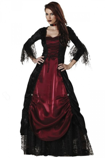Ruby Sexy Women Deluxe Gothic Halloween Vampire Costume