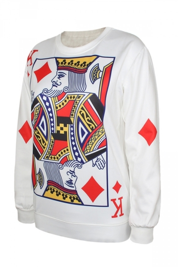 Queen poker sweatshirt