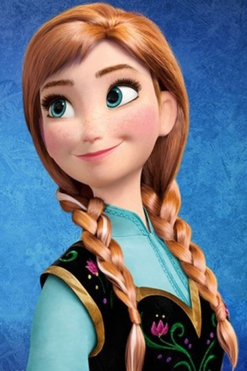 Brown Cute Ladies Frozen Anna Highlights Braided Long Hair
