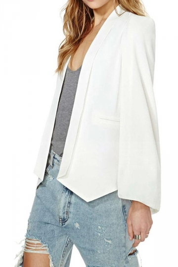 White Pretty Womens Opened Sleeve Cape Blazer Pink Queen